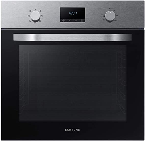 Samsung Dual Fan NV70K1340BS/EG - Horno (eléctrico/empotrado), 56,6 cm, limpieza por catálisis, programación automática, cocina XXL, color plateado