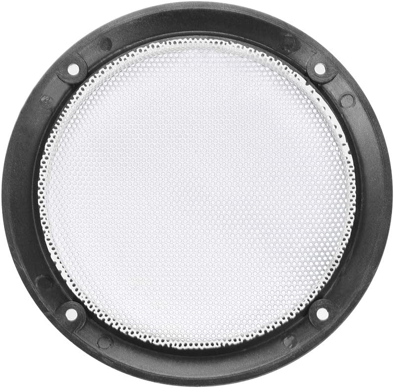uxcell 2pcs 8 inches Speaker Grill Mesh Decorative Circle Woofer Guard Protector Cover Audio Accessories Golden
