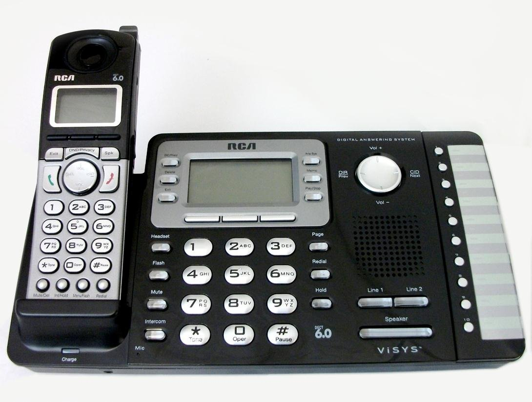 WonderCase Rca 25252 2-Line Expandable Cordless Phone With Caller Id
