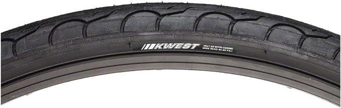 Kenda K193 Kwest Tire 26x1.5 Black 65PSI Clincher Wire MTB Hybrid City Bike