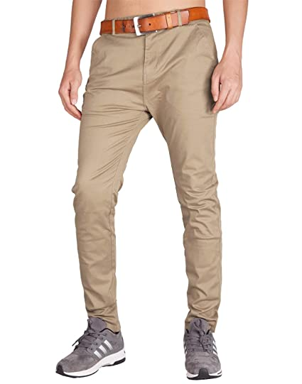 df318979eb208 ITALY MORN Homme Casual Chino Business Pantalons Slim Fit: Amazon.fr ...