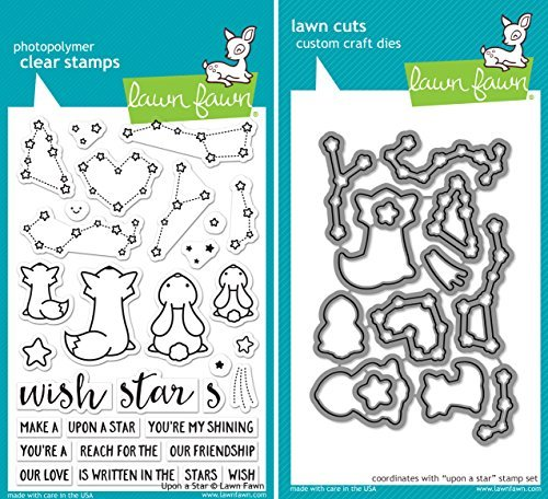 Lawn Fawn Upon a Star Stamp and Die Set - Two item Bundle (Lawn Fawn Bunnies)