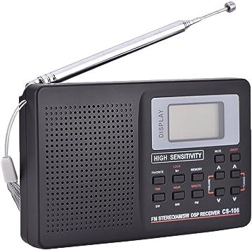 Radio portátil AM FM ganadora Mini radio de bolsillo FM / AM / SW / LW / TV Sonido Receptor