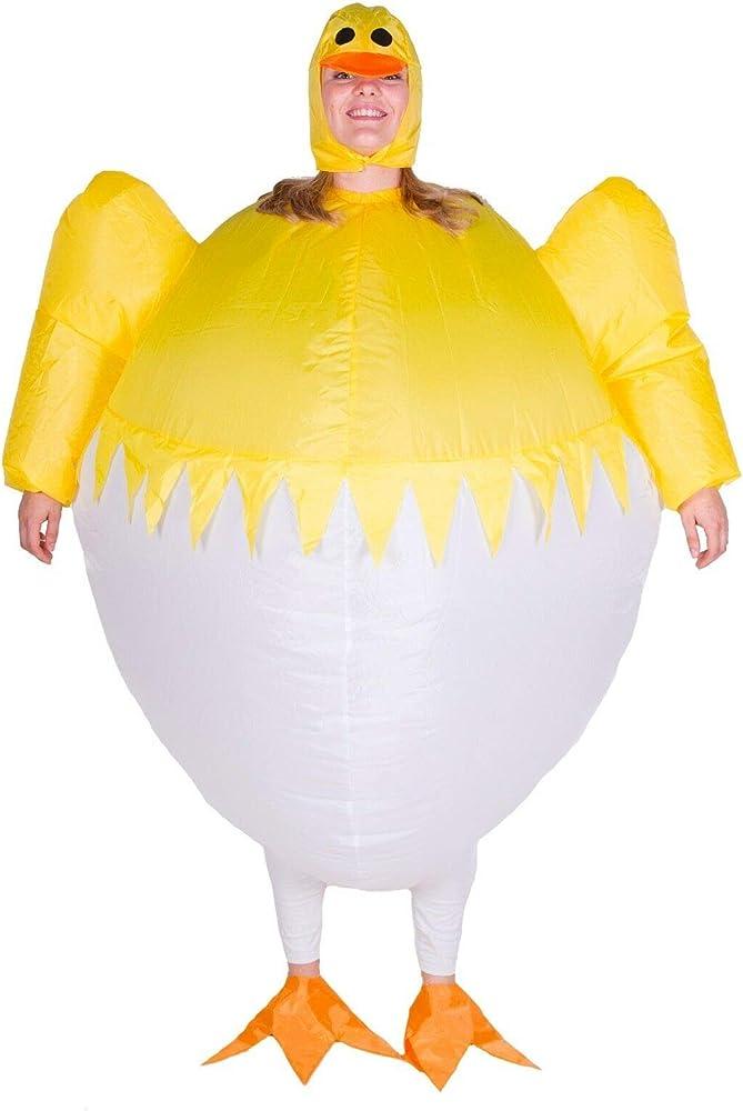 Disfraz de Pollito para Adultos Inflable de Halloween para Llevar ...