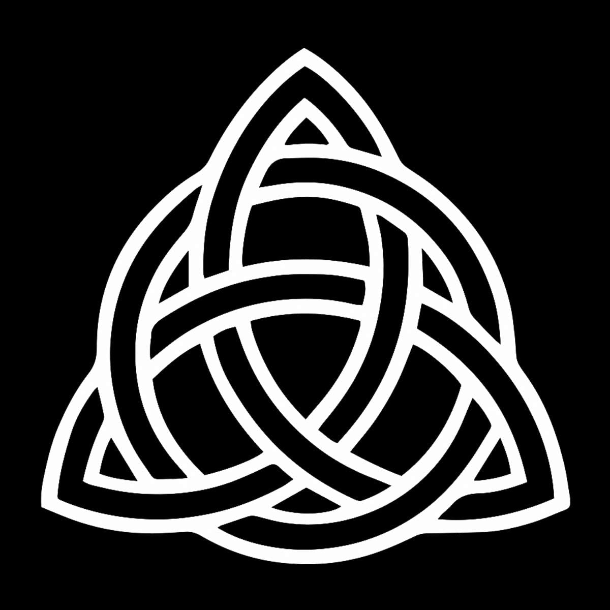 "EvolveFISH Triquetra Weatherproof Vinyl Decal - [White][5""]"