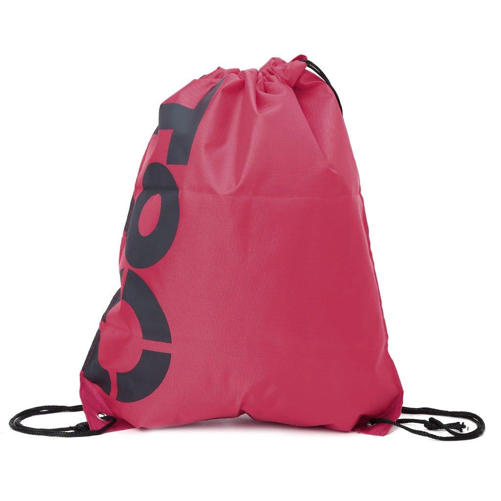 Manyo Mochila adquisiciones Bolsas con Cordón para Unisex Impermeable Viaje Senderismo Playa Gym Pack de Deporte, Color Rosa, Tamaño 43x33cm/16.93x12.99''