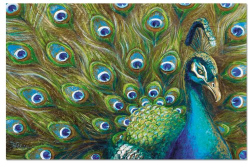 Counterart Paper Placemat, Proud Peacock, 24-Pack
