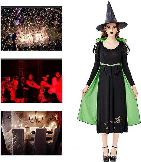 JH&MM Disfraz De Halloween Vestido Verde para Mujer Falda Larga ...