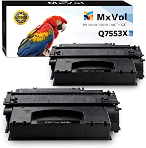 Mvtoner Compatible HP 53X Q7553X 49X Q5949X Toner Cartridge Use for HP LaserJet M2727 P2014 P2015 1320 P2010 3390 Printer (2-Pack, Black)