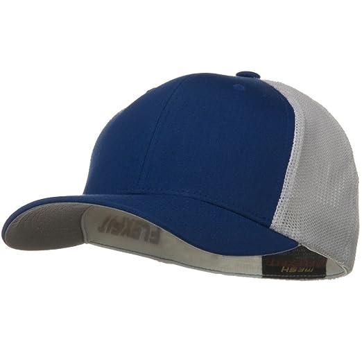 Sonette Yupoong Flexfit Mesh Cotton Twill Trucker 2 Tone Cap - Royal White  at Amazon Men s Clothing store  Baseball Caps a16df8dba88f