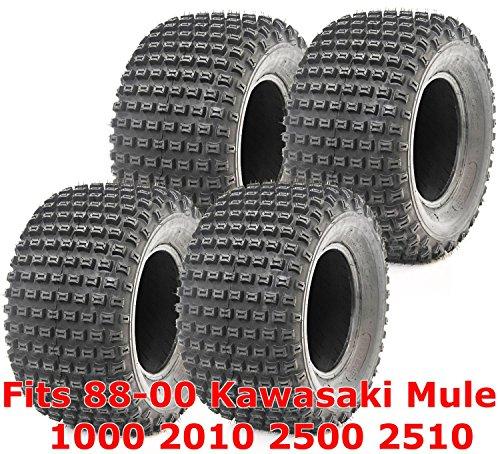Full Set ATV tires 88-00 Kawasaki Mule 1000 2010 2500 2510 22x11-10 4PR (Kawasaki Mule Atv)