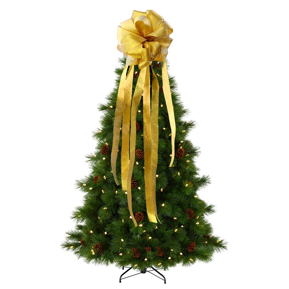 Wmbetter Christmas Tree Topper Bow YellowWmbetter Large ...