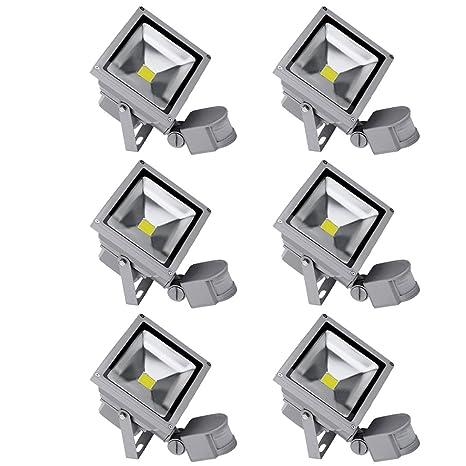 PrimLight 6X 20W Foco con PIR Sensor de Movimiento Proyector LED ...