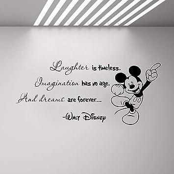 Mickey Minnie Mouse Wall Art Decal Sticker Encouraging Words Wall Decal  Minnie Mickey Mouse Quote Vinyl Sticker Home Boy Girl Room Poster
