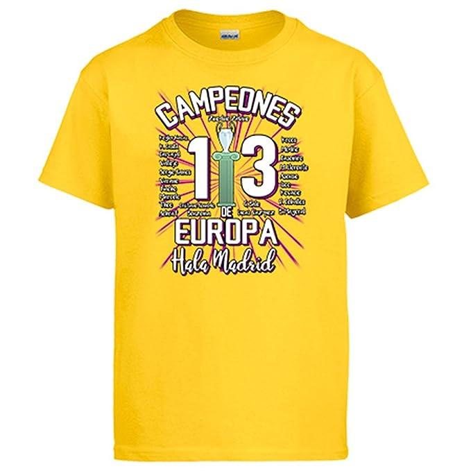 Diver Camisetas Camiseta Real Madrid Campeones de Europa 13 decimotercera HALA Madrid: Amazon.es: Ropa y accesorios