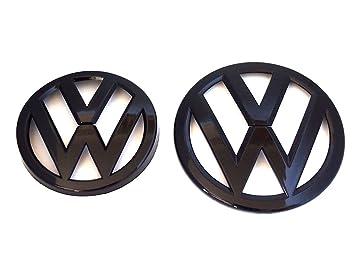 Juego de emblemas en negro brillante de Volkswagen para modelos GTI, TSI, TDI, Golf R MK7 VII - Parte delantera y trasera: Amazon.es: Coche y moto