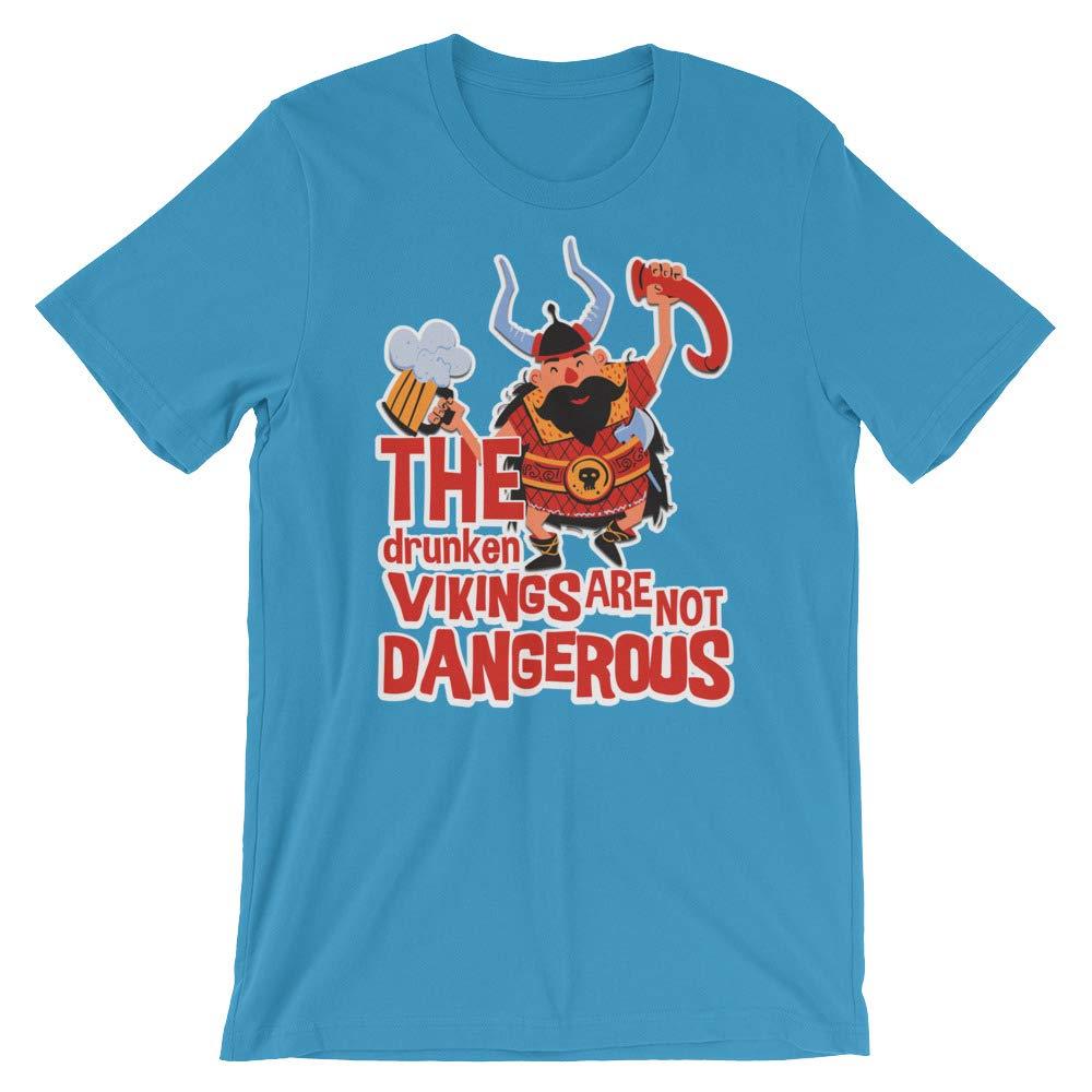 The Drunken Vikings T-Shirt Graphic Shirts Funny Unisex Shirt