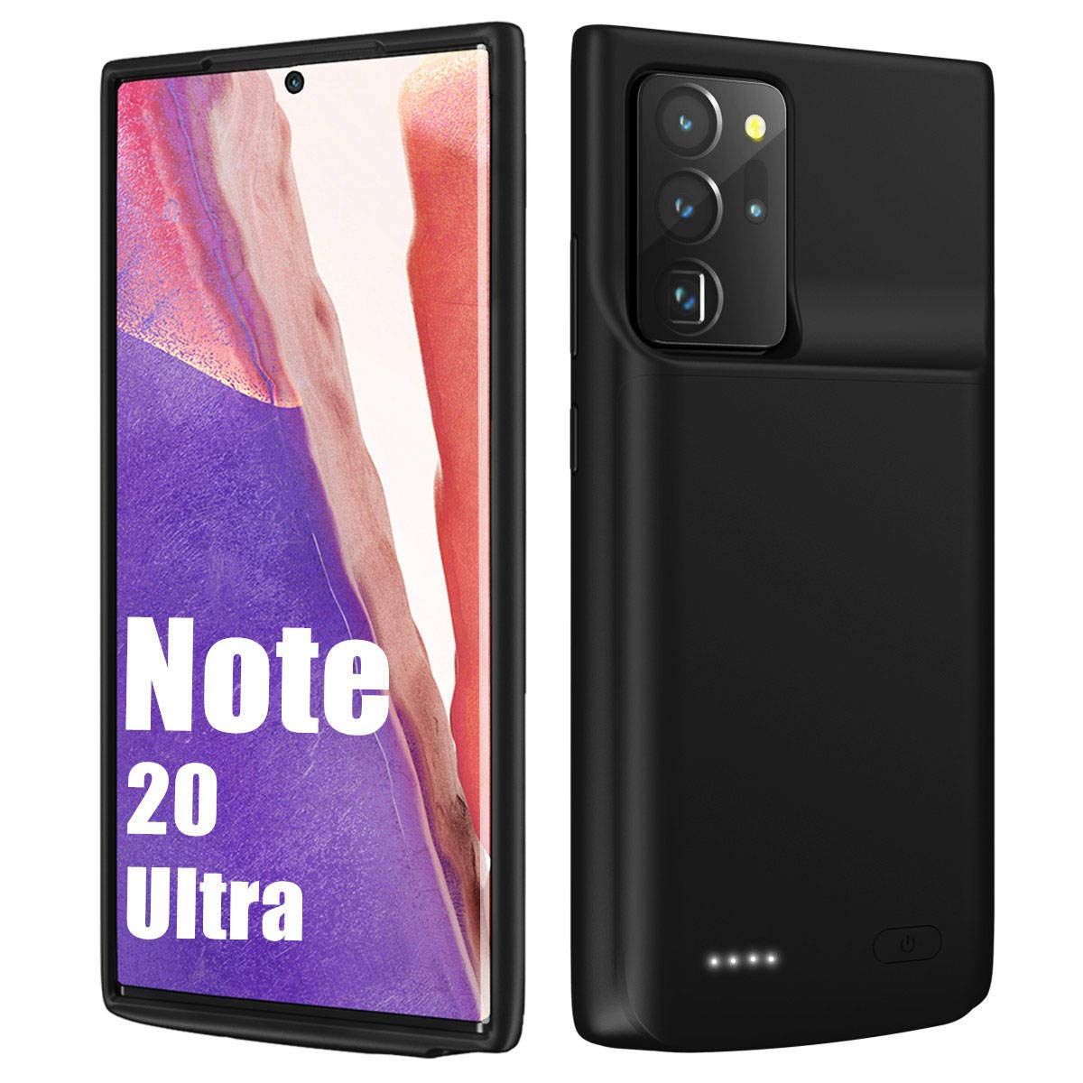 """Galaxy Note 20 Ultra Battery Case 6000mAh, External Rechargeable Battery & Raised Bezel, Fully Charging & Protective Battery Case for Note 20 Ultra 5G (6.9"""")"""