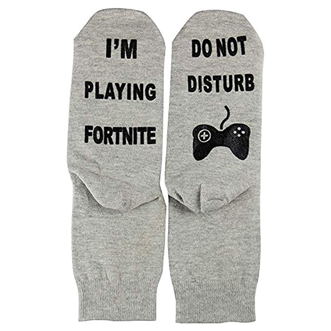Do Not Disturb Im Playing Fortnite Funny Ankle Socks, Great Gamer Gift (Mid tube socks 06) at Amazon Mens Clothing store: