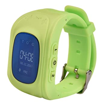 Samber Montre Connectée Enfant GPS Montre Intelligente Smartwatch Connect SOS (Vert)