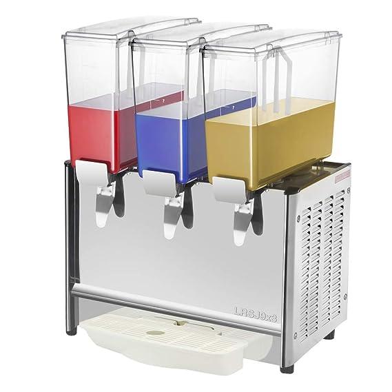 PrimeMatik - Máquina dispensadora de zumos y Bebidas frías y Calientes para Uso Comercial de 9L x 3 Tanques: Amazon.es: Electrónica