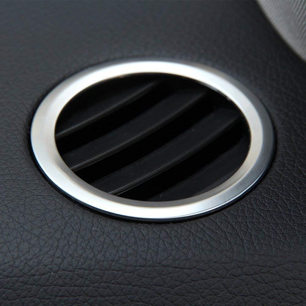Carbonio ABS Cromato Interno Decorazione Aria condizionata Uscita Vent Accessorio Cornice Cover Trim Adesivi per GLK X204 ML W124 GL X164