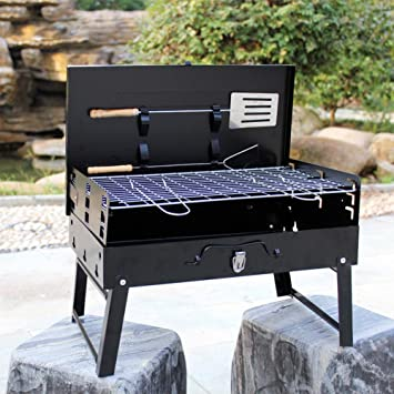 GYH-CHU Charcoal Grill Portátil Plegable Mesa de carbón para ...