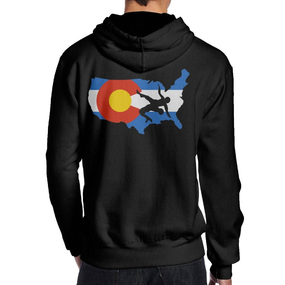 Praygood11 Colorado USA Wrestling Men's Pullover Hoodie Sport Outwear,Back Print by Praygood11