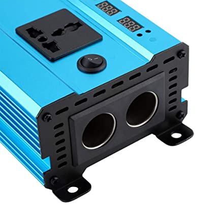 2000W // 1000W DC 12V a CA 220V Inversor de Corriente del convertidor de autom/óvil con 4 Puertos USB 500W Aramox Inversor de Corriente del Coche 1000W Pantalla Digital LED