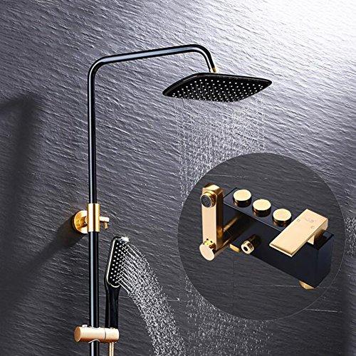 Shower Set Deck Mount Bath Fille Tap Shower Mixer Bathroom Low Pressure Modern Space Aluminum Bathtub Faucets ()
