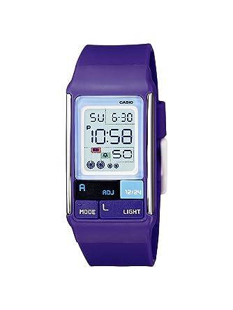 Casio LDF-52-6AEF - Reloj digital de cuarzo para mujer, correa de plástico color morado: Amazon.es: Relojes