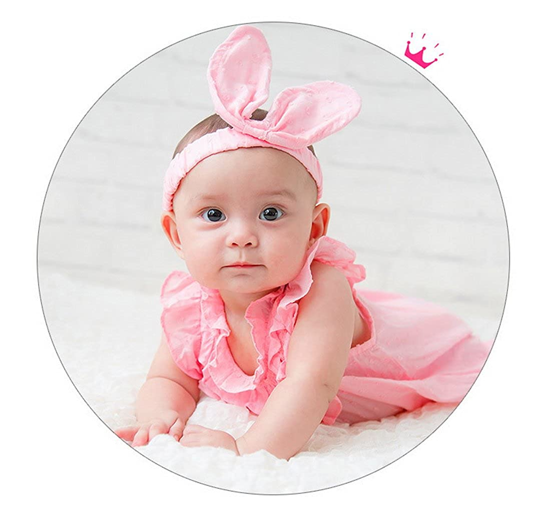 La Vogue Jumpsuits Summer for Baby Girls Kids Romper One-Piece with Headband