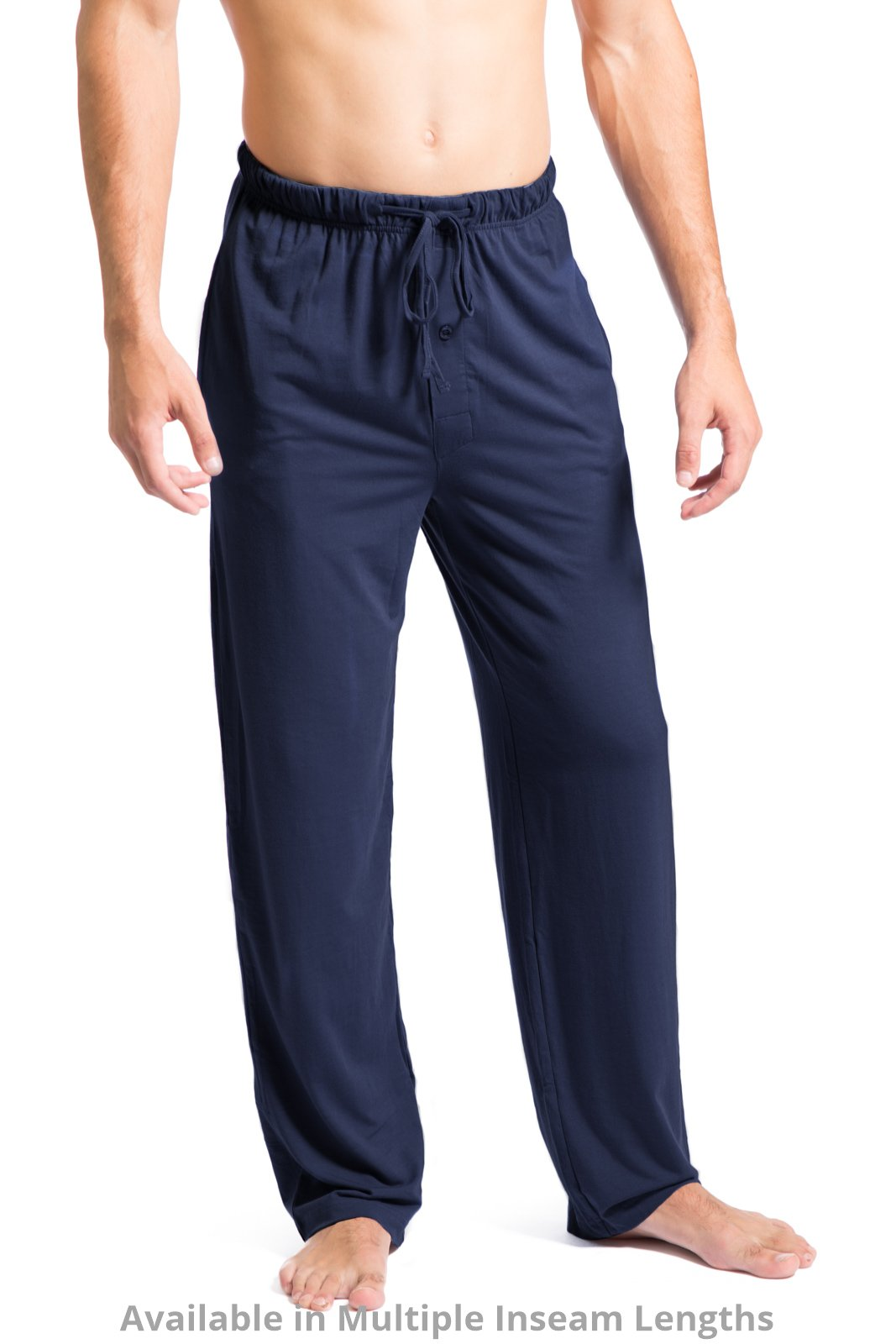 Fishers Finery Men's Ecofabric Jersey Pajama Pant; Soft and Comfortable Navy, M