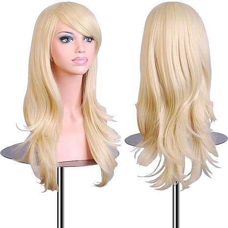 EmaxDesign Peluca de mujer de 70 cm de longitud Melena larga y con volumen, de
