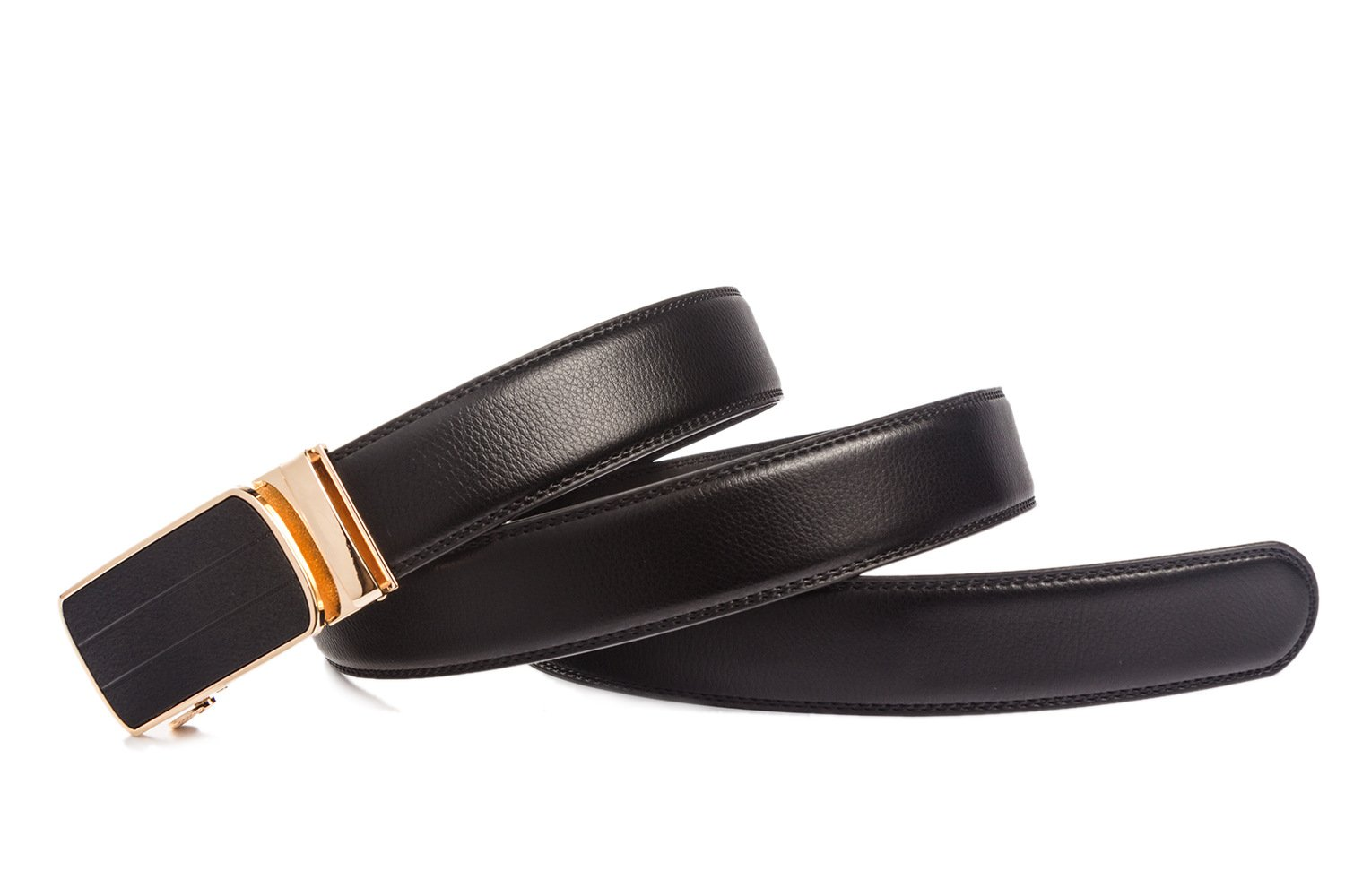 ITIEZY Designer Belt For Men Ratchet Leather Dress with Automatic Buckle