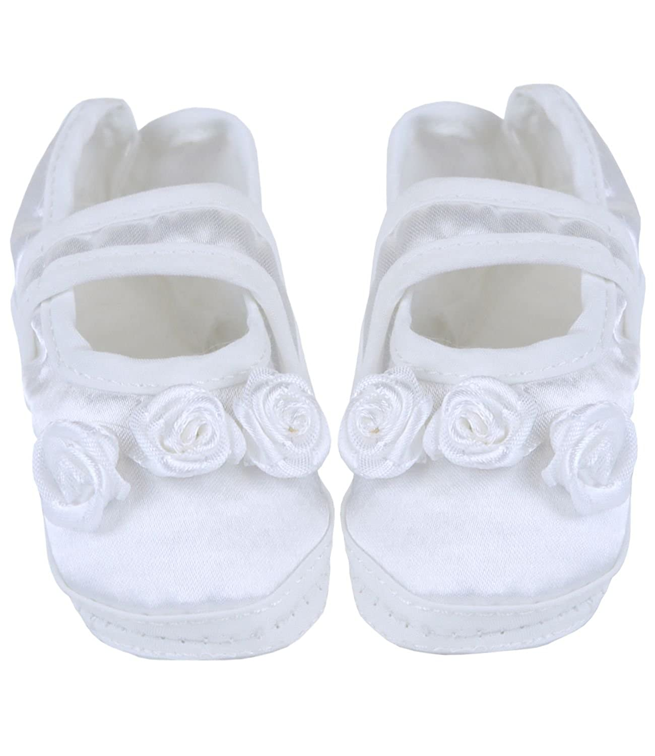 BabyPrem Baby Girls Christening Shoes Bootees Satin Clothes Newborn 3 Months