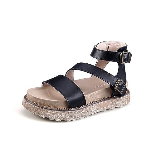 5e145c02a099 Summer Women s Sandals Bohemia Beaded Flat Shoes Platform Espadrilles  Sandals (Black 35 4.5 B