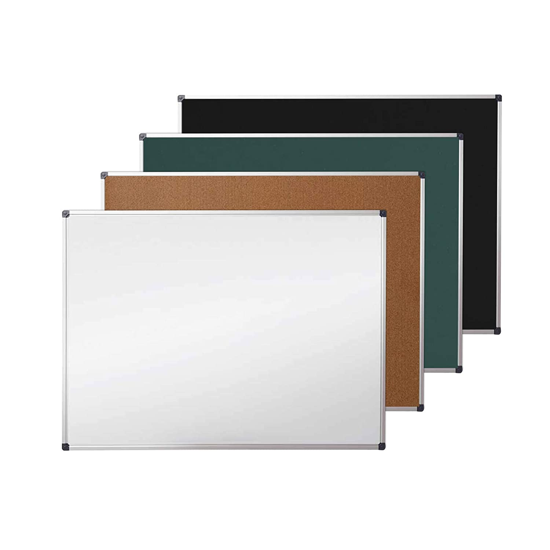 Basics Tableau daffichage en li/ège avec cadre en aluminium 90/x/60/cm