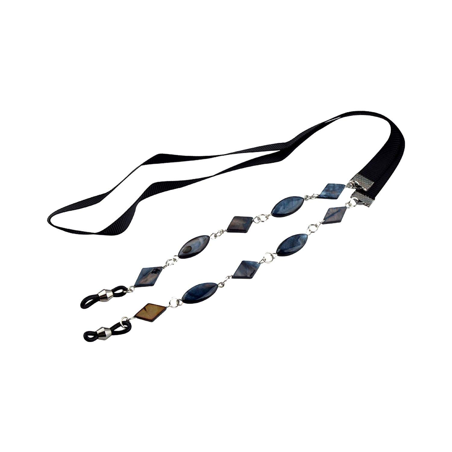 10pcs Red Shell Beads With Ribbion Eyewear Sunglasses Reading Glass Neck Strap Holder Cord Sun Glasses Strap,Black by RHYS DOBSON