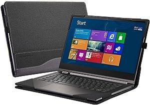 "Honeymoon Case Cover Compatible with 12.5"" Dell Latitude 12 e5270 e7270 Series Laptop/Lenovo Yoga 730-13, PU Leather Case[Warning:Not fit Latitude 12 5280 5290 / Latitude 12 7290 7280 7285],Black"