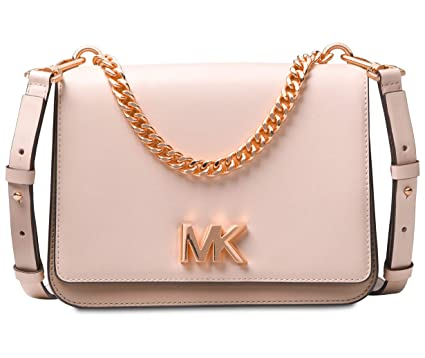 7fc07e56e67b16 Image Unavailable. Image not available for. Color: Michael Kors Mott Large  Chain Swag Shoulder Bag ...