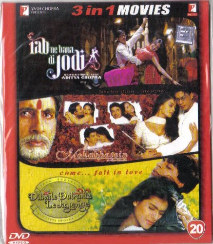 Rab Ne Bana Di Jodi / Mohabbatein / Dilwale Dulhania Le Jayenge(3 in 1 - 100% Orginal DVD Without Subtittle)
