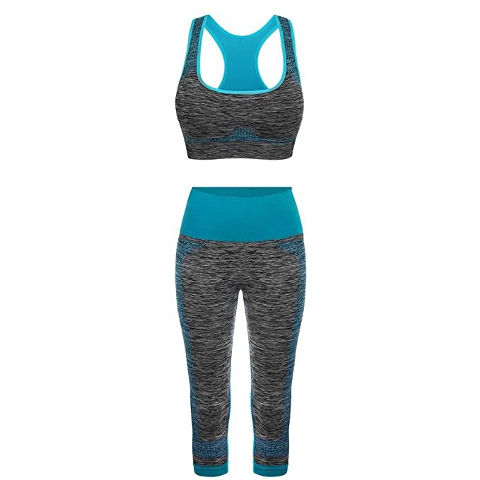 4520ef7dea545 FITIBEST Deportes Sujetadores Yoga Pantalones Leggings Deporte Conjuntos  para Mujer Running Fitness Pilates  Amazon.es  Ropa y accesorios