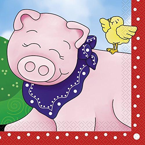 Farm Theme Party Costumes (Farm Party Napkins, 16ct)