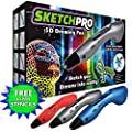 3D Pen w/ FREE Art Stencils - Latest Edition Art Toy Makes Perfect Kid Gift for Arts and Crafts - SAFE and EASY-TO-USE 3d Printing Pen