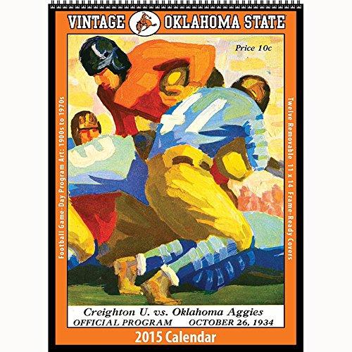 Oklahoma State Cowboys Football 2015 Vintage Poster Calendar