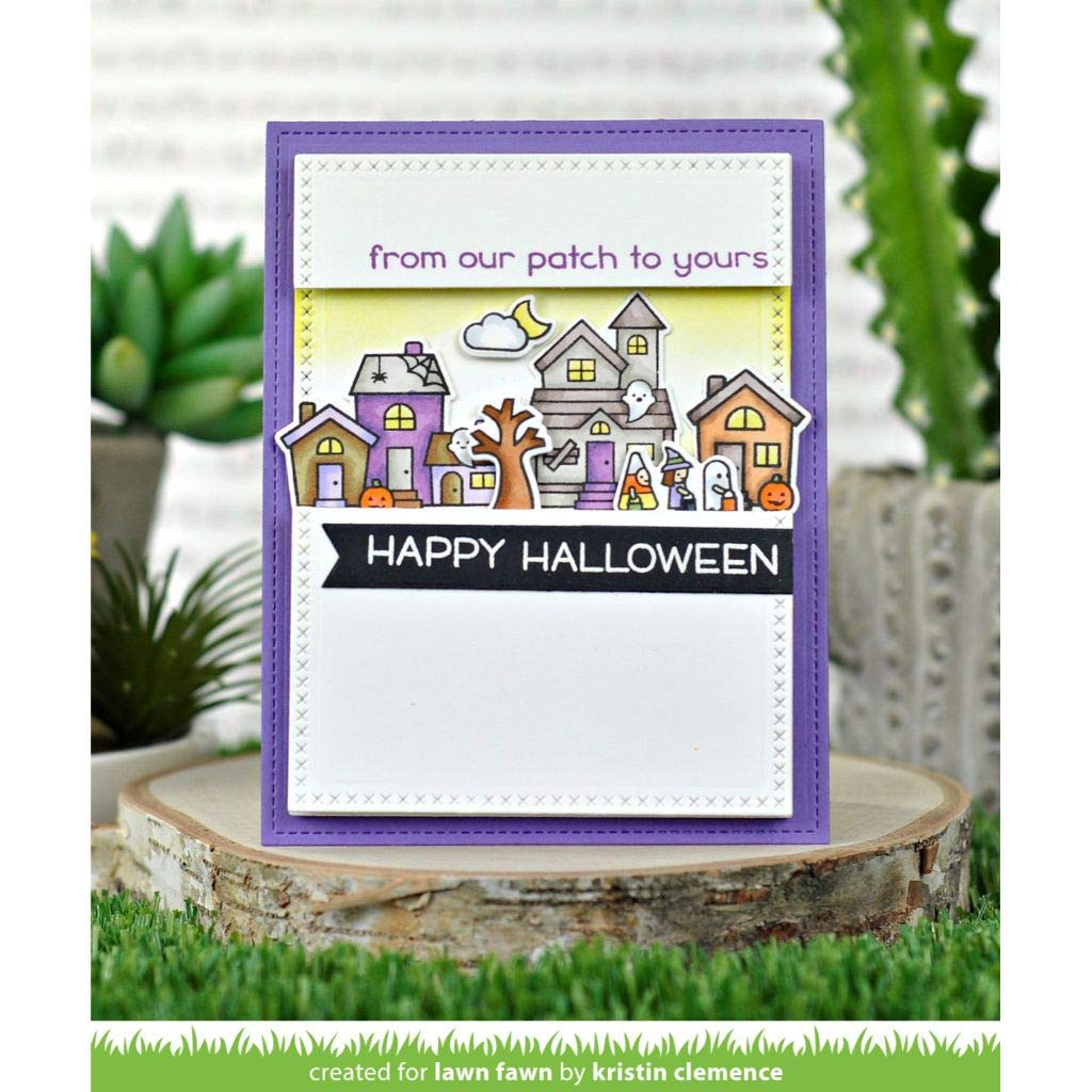 Lawn Fawn Spooky Village 4x6 Clear Stamp Set LF2014