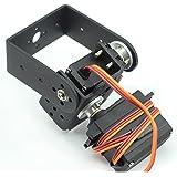 Mallofusa ® 2 DOF Pan and Tilt with Mg995 Servos Sensor Mount for Arduino Robot Set Car Plane DIY with Mallofusa Cable Tie