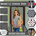 Magnetic Screen Door-Easy to Install Door Screens with Magnets 36.5X83 Inches-Keeps Bugs Out and Lets Cool Breeze In-Toddler and Pet Friendly from SQSM