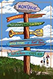 Montauk, New York - Sign Destinations (9x12 Art Print, Wall Decor Travel Poster)